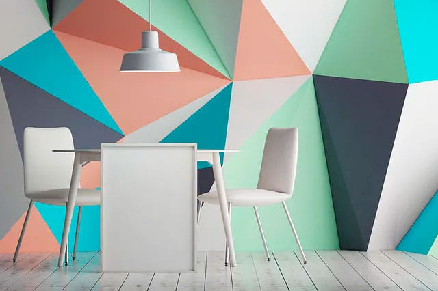 Pintura para Paredes: Nueva tendencia, paredes geométricas en las habitaciones
